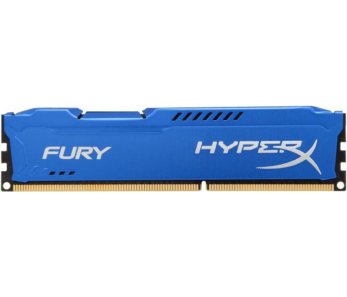 Купить Модуль памяти Kingston HyperX Fury Blue Series PC3-15000 DIMM DDR3 1866MHz CL10 - 8Gb HX318C10F/8