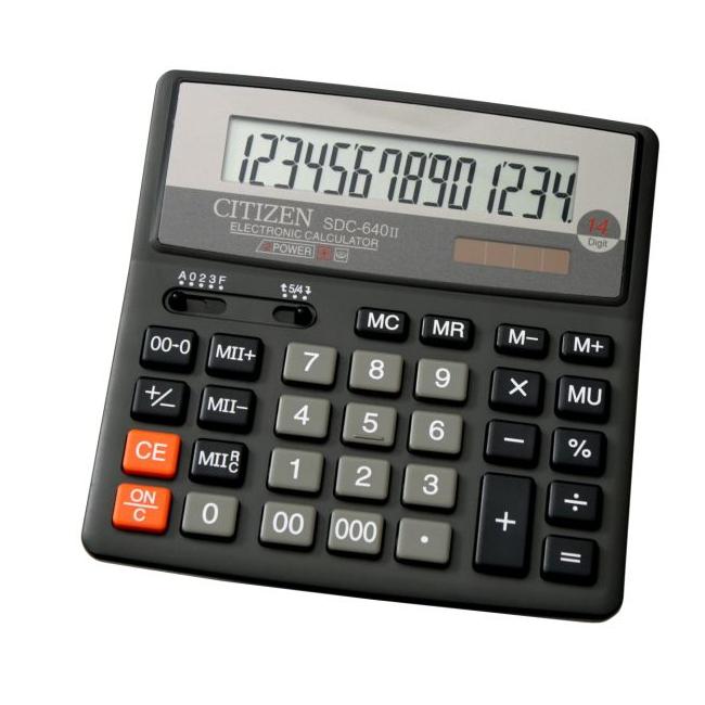 Калькулятор Citizen SDC-640II