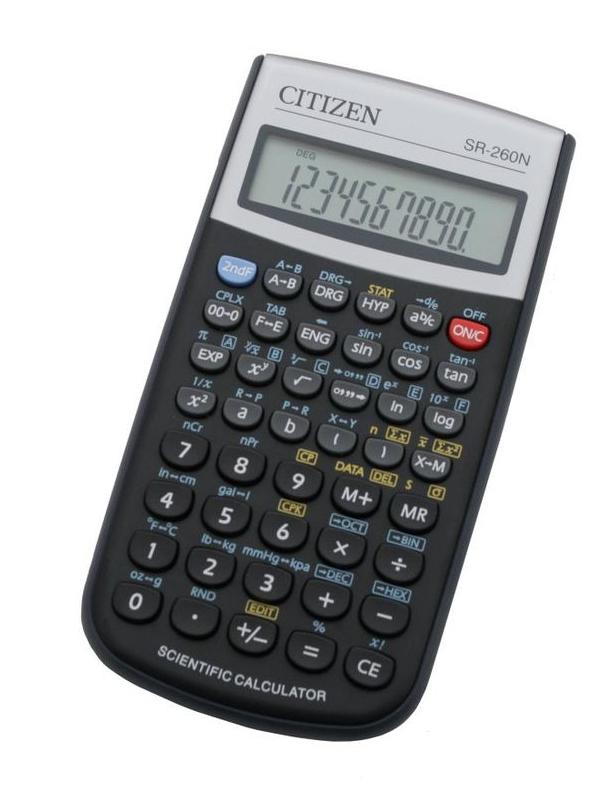 купить калькулятор citizen sdc 554s Калькулятор Citizen SR-260N