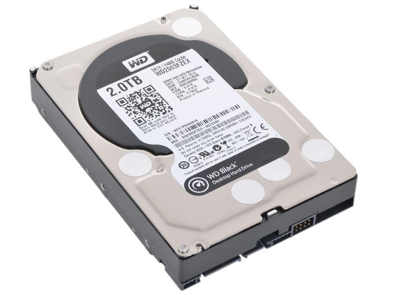 Жесткий диск Western Digital WD 2Tb Black WD2003FZEX