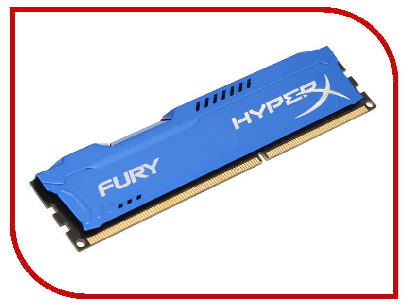 Купить Модуль памяти Kingston HyperX Fury Series DDR3 DIMM 1600MHz PC3-12800 CL10 - 8Gb HX316C10F/8
