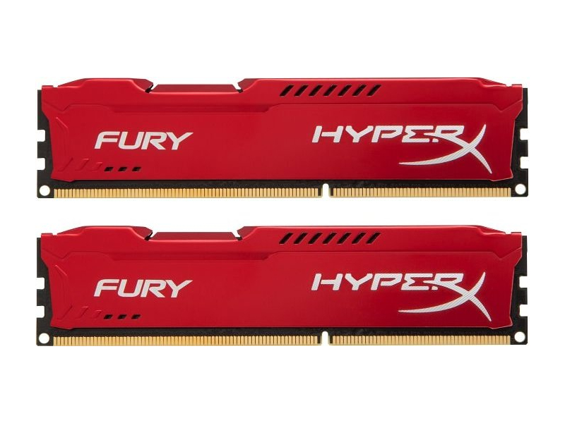 Купить Модуль памяти Kingston HyperX Fury Red Series DDR3 DIMM 1866MHz PC3-15000 CL10 - 16Gb KIT (2x8Gb) HX318C10FRK2/16