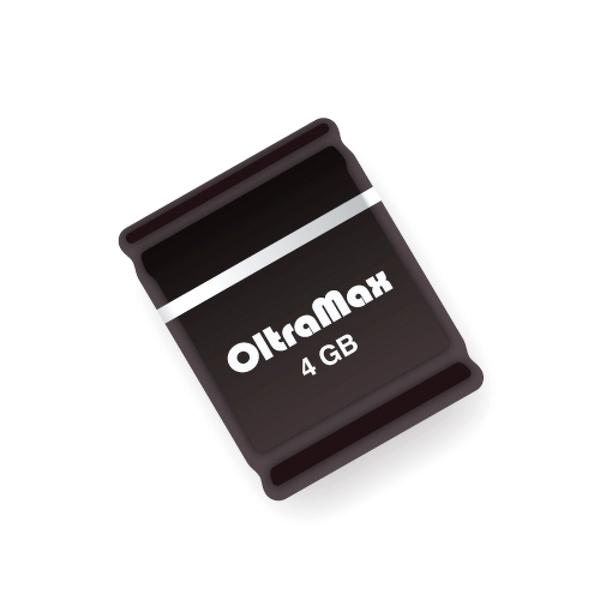 Купить USB Flash Drive 4Gb - OltraMax 50 Black OM004GB-mini-50-B