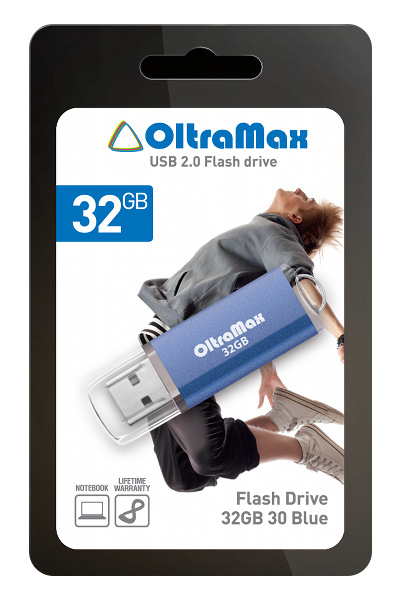 Купить USB Flash Drive 32Gb - OltraMax 30 Blue OM032GB30-Bl