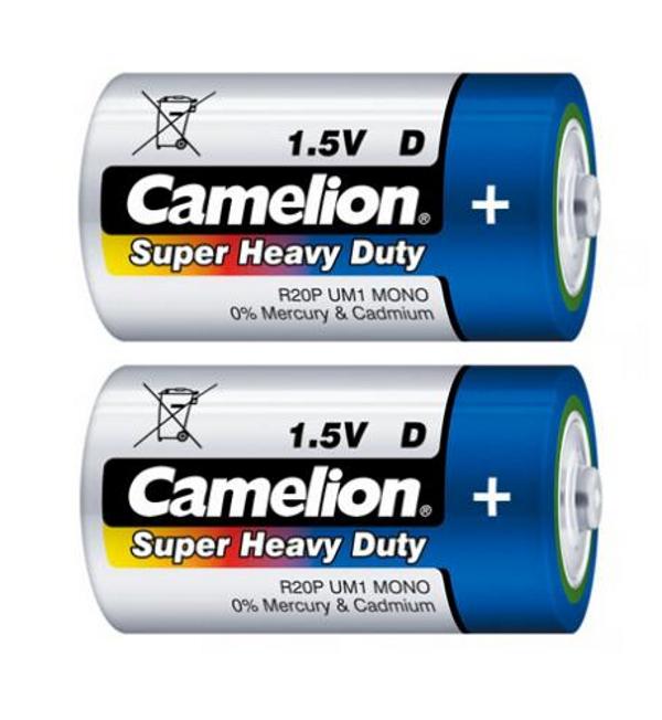 Батарейка D - Camelion R20 Blue R20P-BP2B (2 штуки)