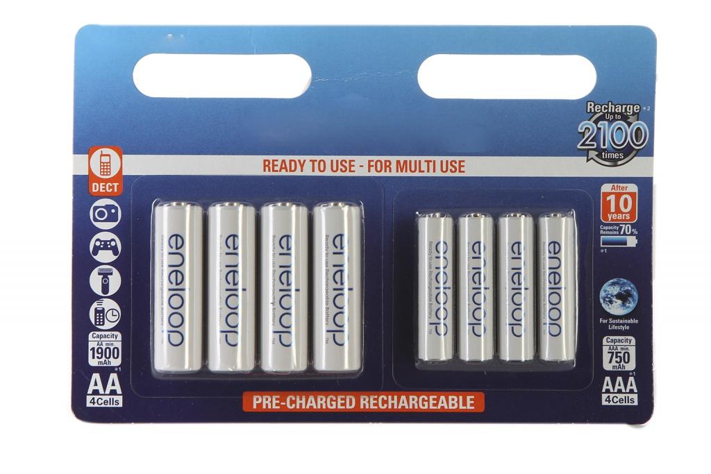 аккумуляторы аа panasonic eneloop pro 2500mah купить Аккумулятор AA+AAA - Panasonic Eneloop AA 1900 mAh (4 штуки) + AAA 750 mAh Ni-MH (4 штуки) BK-KJMCCE44E