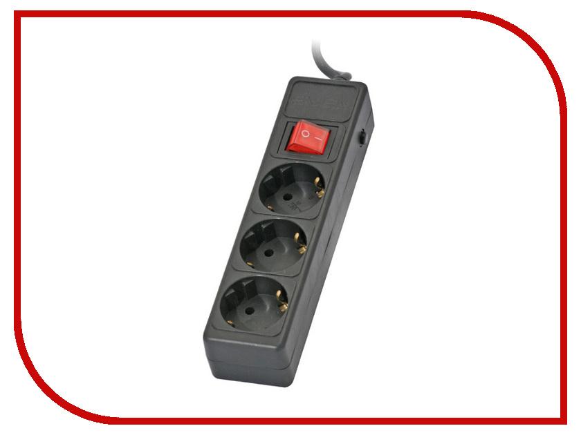 Купить Сетевой фильтр Sven Optima Base 3 Sockets 3m Black