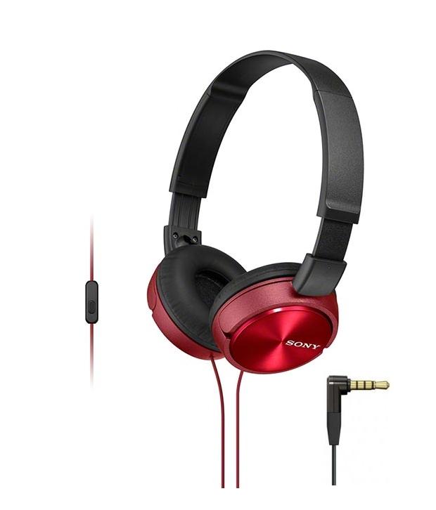 Наушники Sony MDR-ZX310AP Red наушники sony mdr zx310ap черный