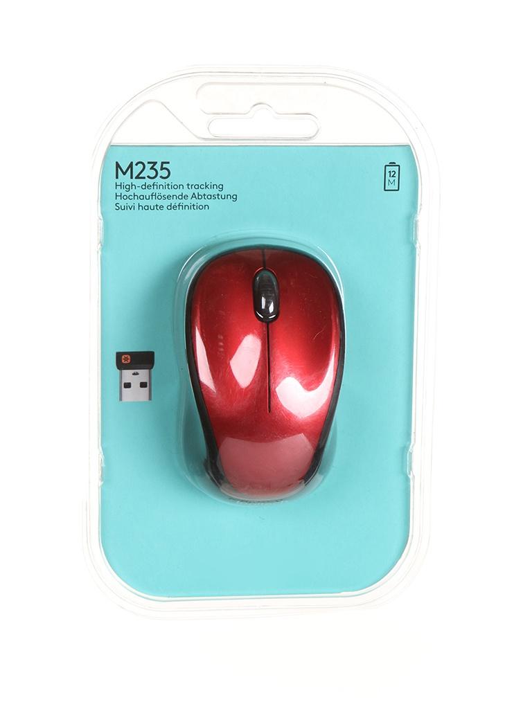 мышь logitech wireless mini mouse m187 red 910 002737 910 002732 Мышь Logitech Wireless Mouse M235 Red 910-002497 / 910-002496