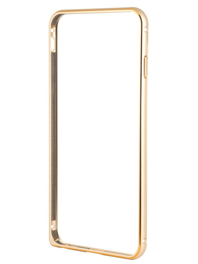Чехол-бампер Ainy for iPhone 6 Plus Gold QC-A014L