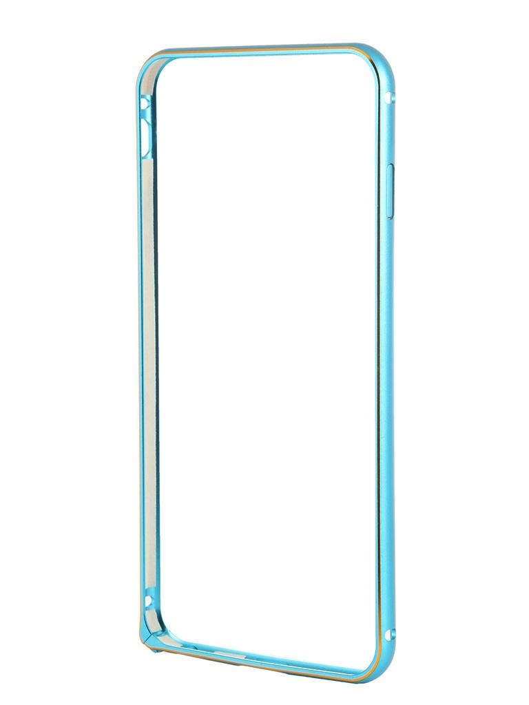 Чехол-бампер Ainy for iPhone 6 Plus Blue QC-A014N