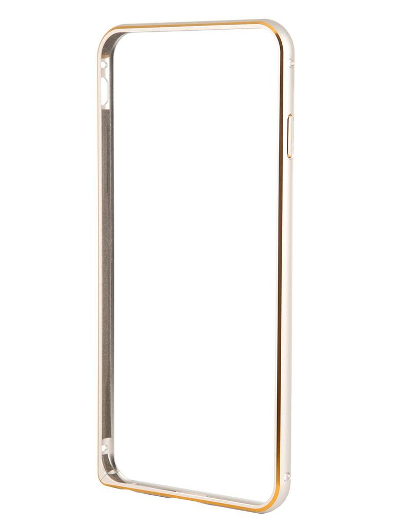 Чехол-бампер Ainy for iPhone 6 Plus Silver QC-A014Q