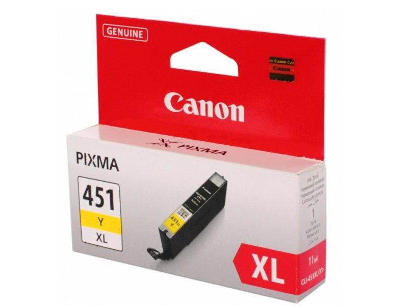 Картридж Canon CLI-451Y XL Yellow 6475b001