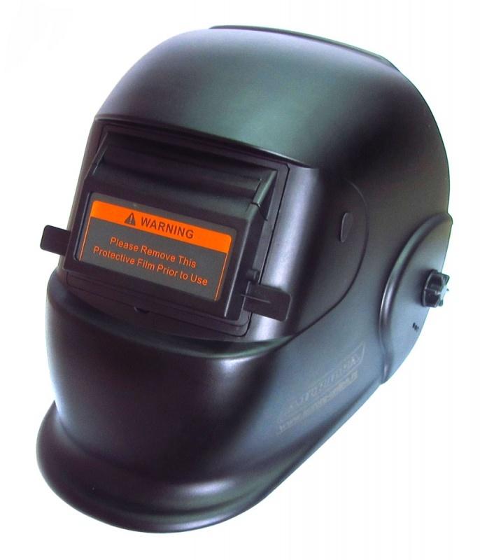 Купить Маска сварщика Aurora Black Glass с поднимающимся светофильтром