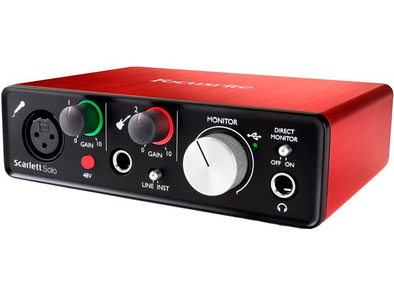 gold solo Аудиоинтерфейс Focusrite Scarlett Solo USB 2nd Gen