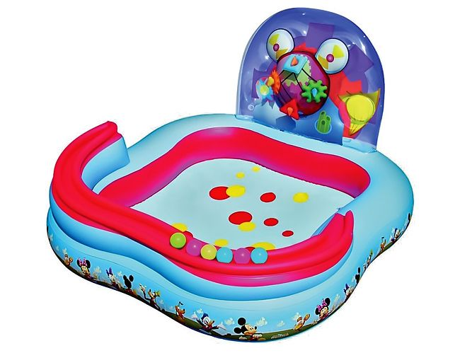 Фото - Детский бассейн BestWay Микки-Маус 91015B бассейн надувной bestway микки и его друзья 262х175х51см 778л