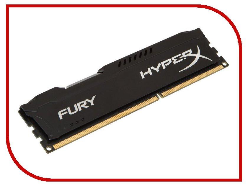 Купить Модуль памяти Kingston HyperX Fury Black DDR3 DIMM 1333MHz PC3-10600 CL9 - 4Gb HX313C9FB/4