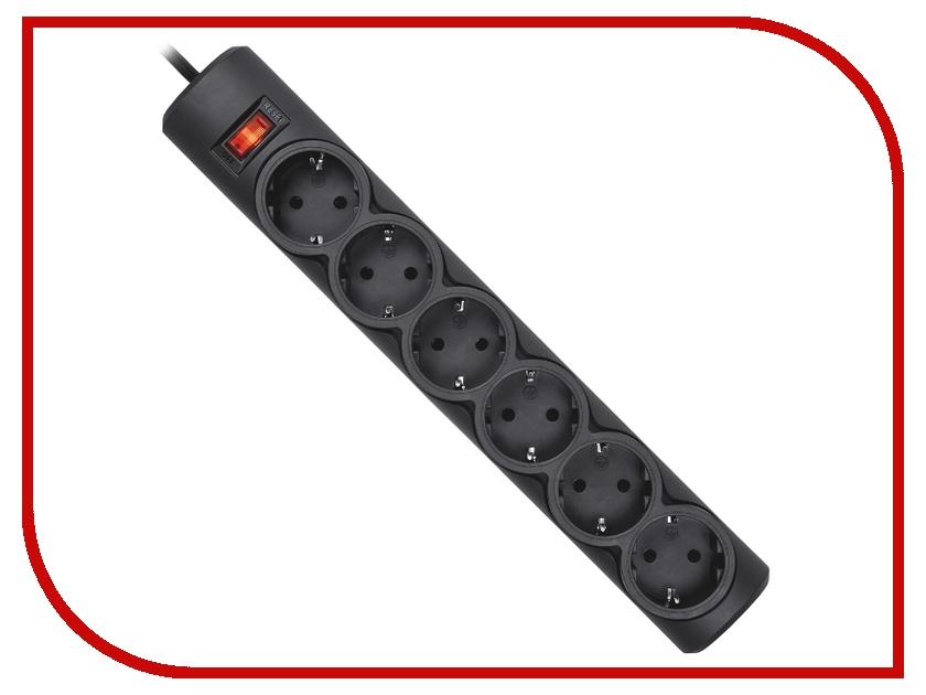 Купить Сетевой фильтр Defender DFS 155 6 Sockets 5.0m Black 99496