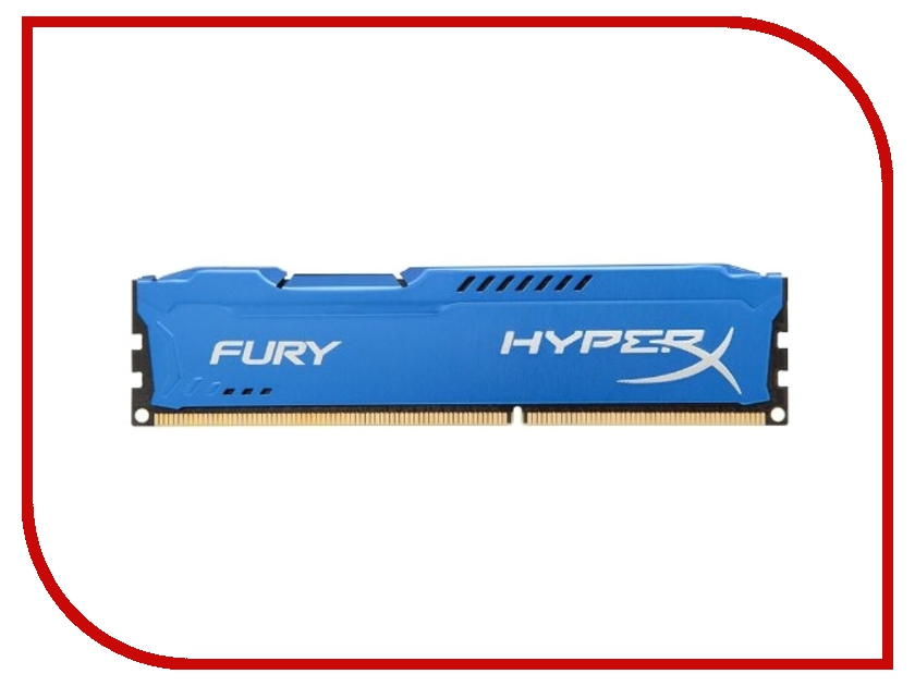 Купить Модуль памяти Kingston HyperX Fury Blue DDR3 DIMM 1866MHz PC3-15000 CL10 - 4Gb HX318C10F/4