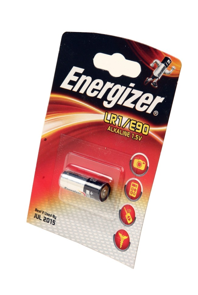 Батарейка LR1/E90 - Energizer Alkaline (1 штука) E300781301 / 23290
