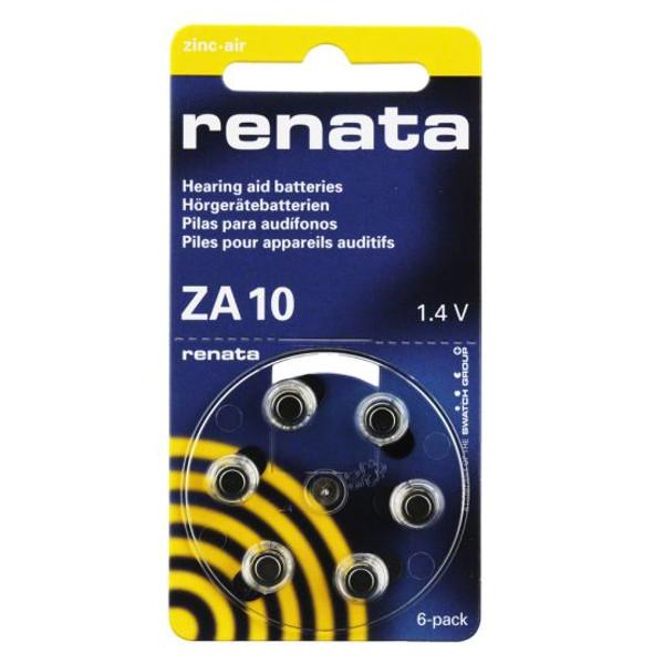Батарейки Renata ZA10 (6 штук)