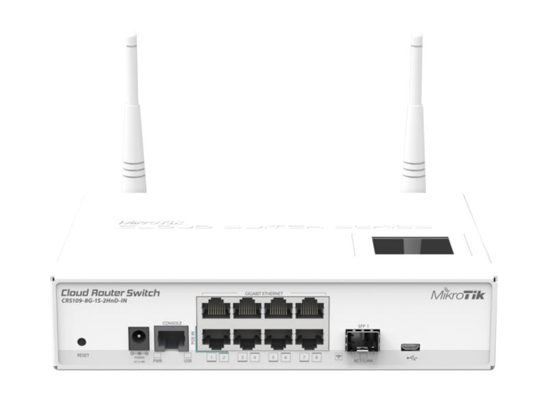 Коммутатор MikroTik RouterBoard CRS109-8G-1S-2HnD-IN