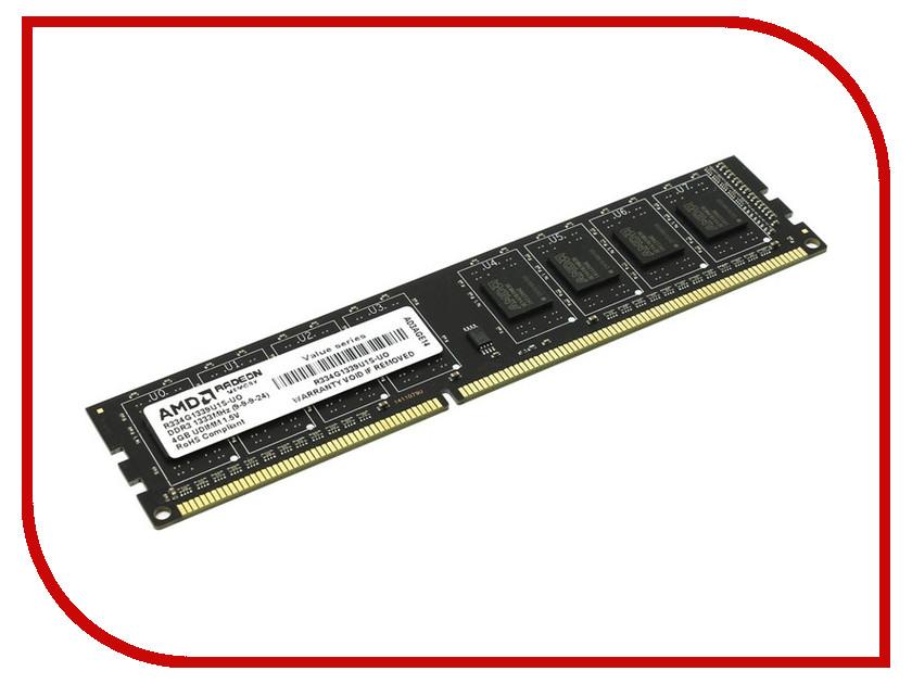 Купить Модуль памяти AMD DDR3 DIMM 1333MHz PC3-10600 - 4Gb R334G1339U1S-UO