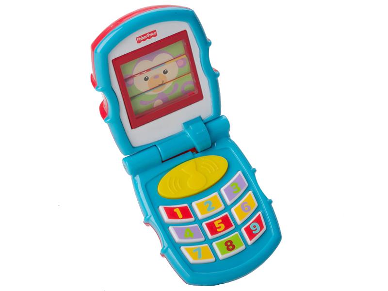 планшет mattel fisher price смейся и учись ноутбук ученого щенка fxk38 Телефончик Mattel Fisher-Price Y6979