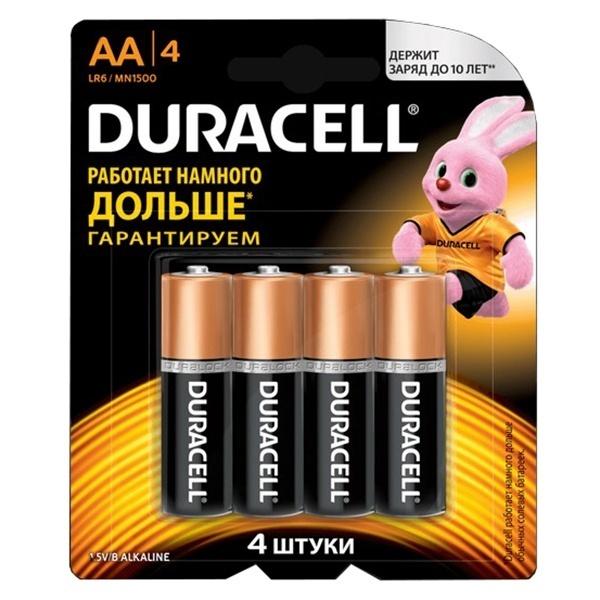 Батарейка AA - Duracell LR6-MN1500 (4 штуки)
