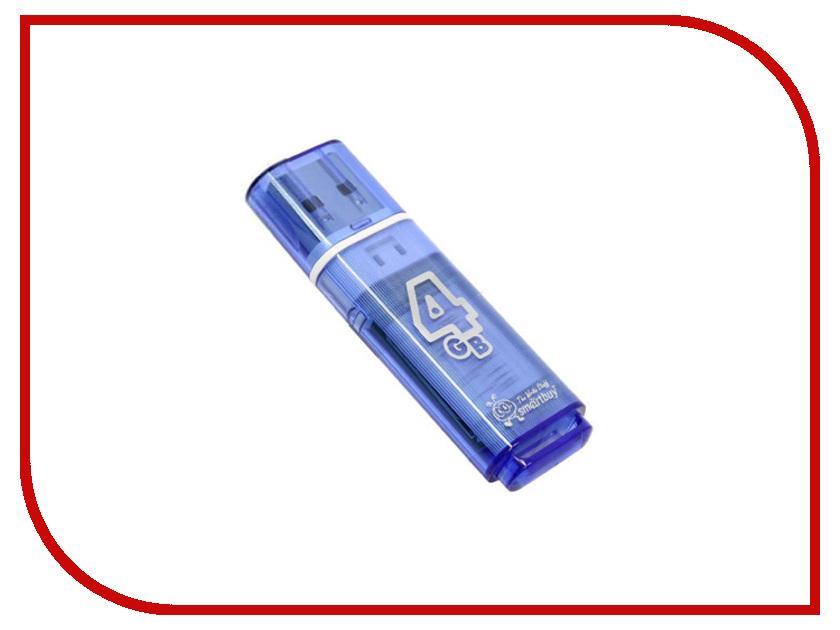 Купить USB Flash Drive 4Gb - Smartbuy Glossy Blue SB4GBGS-B