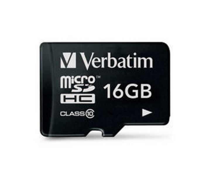 Фото - Карта памяти 16Gb - Verbatim - Micro Secure Digital HC Class 10 44010 карта памяти sdhc 16gb class 4 verbatim 44020