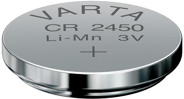 Батарейка CR2450 - Varta 6450 (1 штука) 01095 батарейка varta cr2450 1 шт