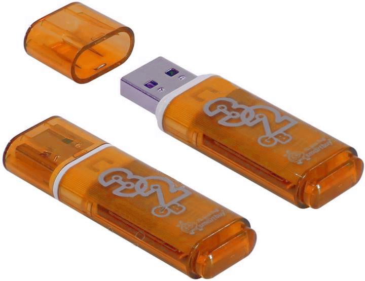 usb flash drive 32gb smartbuy glossy dark grey sb32gbgs dg USB Flash Drive 32Gb - SmartBuy Glossy Series Orange SB32GBGS-Or