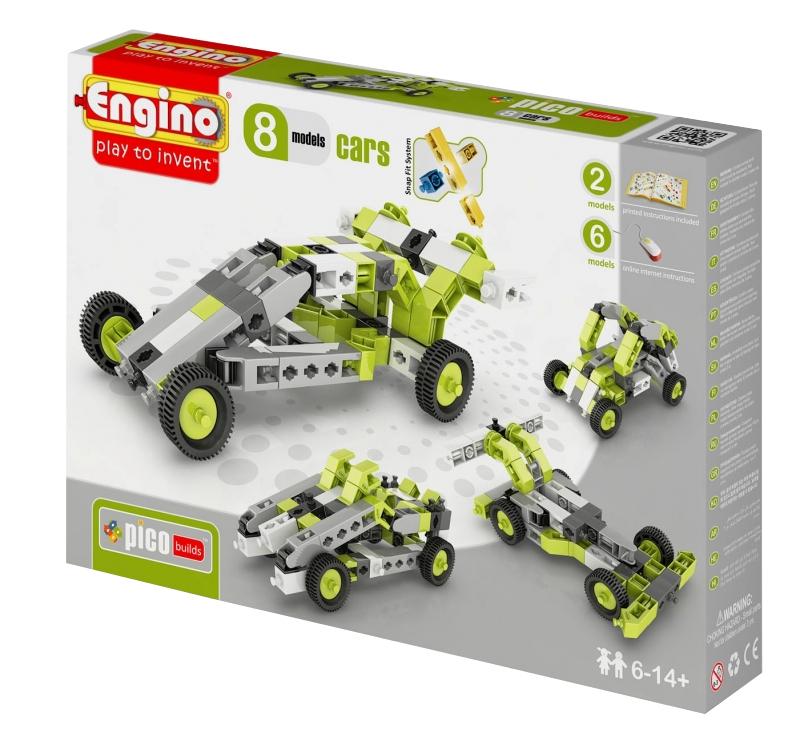 Конструктор Engino Pico Builds Автомобили 8 моделей из одного комплекта PB21