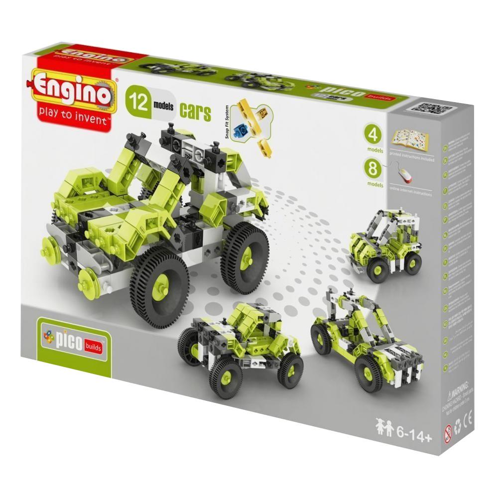 Конструктор Engino Pico Builds Автомобили 12 моделей из одного комплекта PB31