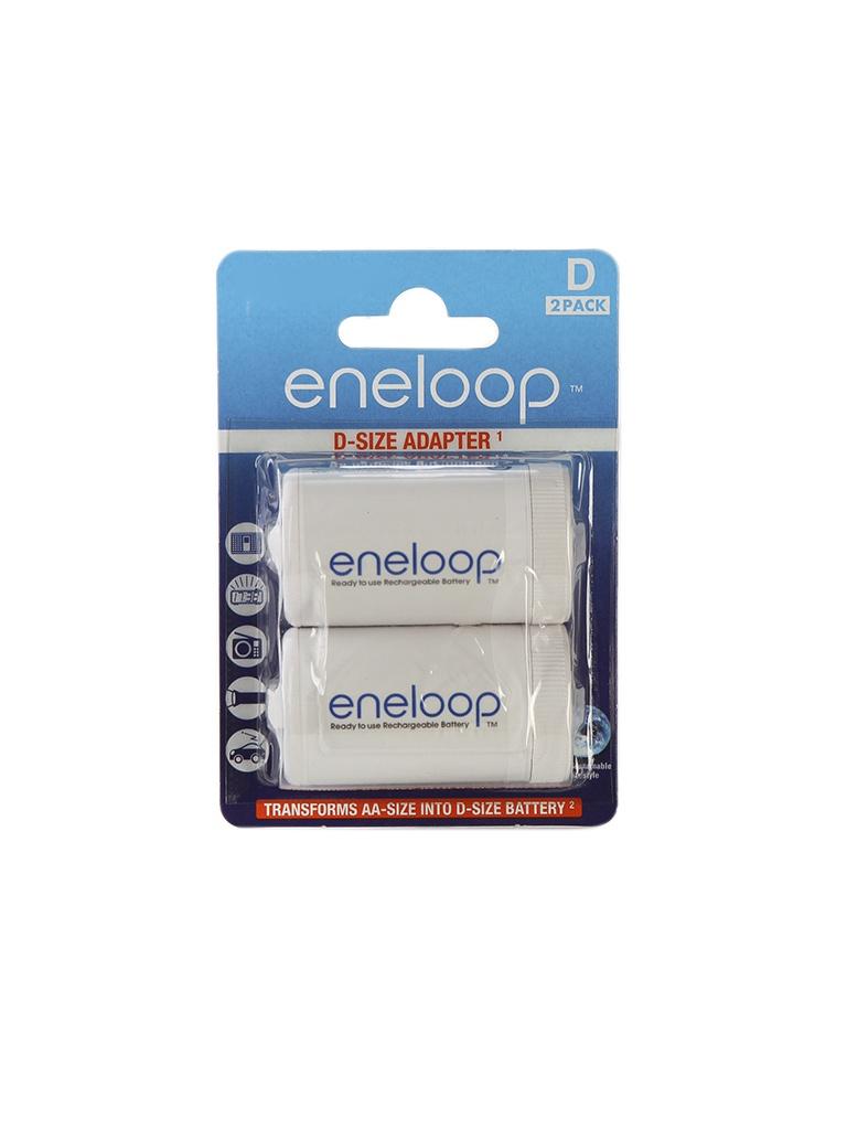 аккумуляторы аа panasonic eneloop pro 2500mah купить Аксессуар Panasonic Eneloop BQ-BS1E/2E (2 штуки) - адаптер D