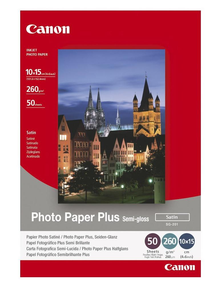 Фотобумага Canon SG-201 Полуглянцевая 260g/m2 A6 50 листов 1686B015 SG-201 1686B015