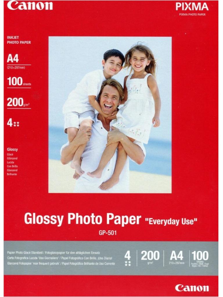Фотобумага Canon GP-501 Глянцевая 200g/m2 A4 100 листов 0775B001 GP-501 0775B001
