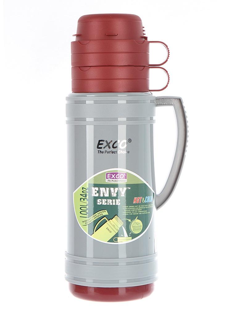 Термос EXCO EN100 1L Gray-Red
