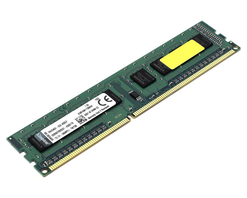 Купить Модуль памяти Kingston DDR3 DIMM 1600MHz PC3-12800 CL11 - 4Gb KVR16N11S8H/4