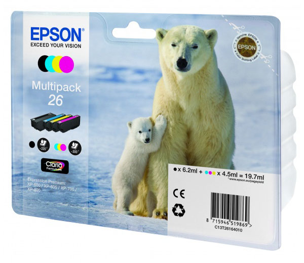 epson s22 купить Картридж Epson T2616 MultiPack C13T26164010