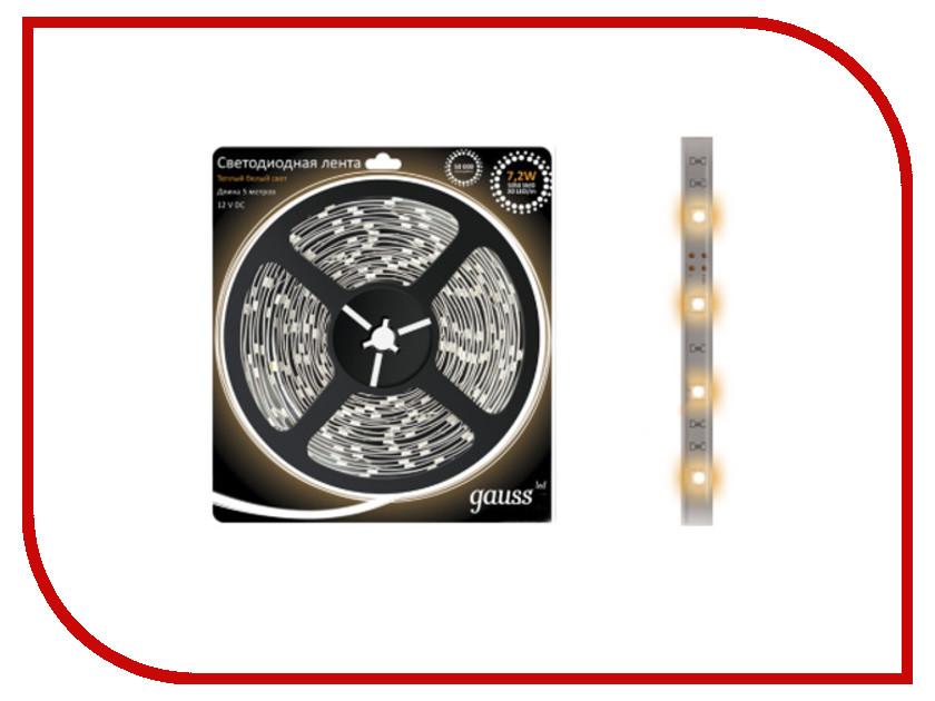 Купить Светодиодная лента Gauss 5050/30-SMD 7.2W 12V DC 5m EB312000107 / 312000107