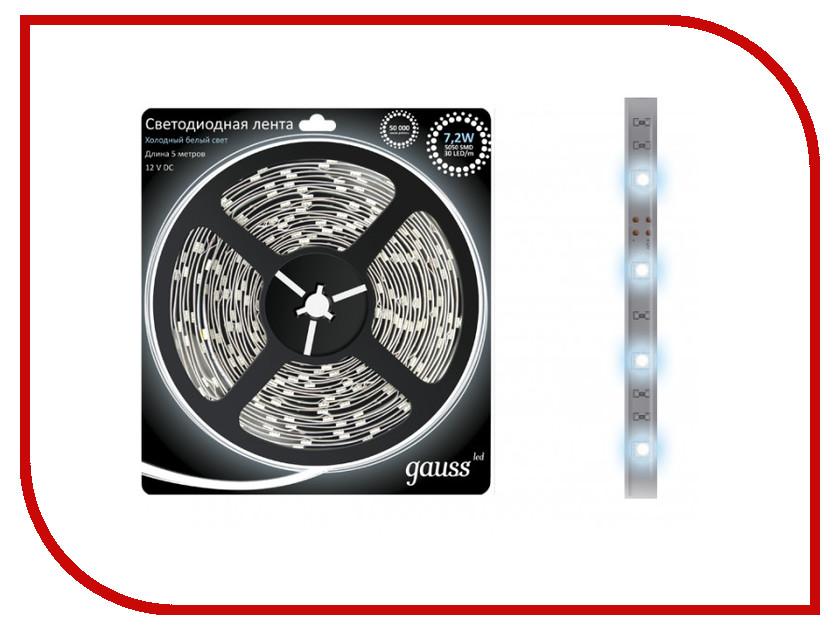 Купить Светодиодная лента Gauss 5050/30-SMD 7.2W 12V DC 5m EB312000307 / 312000307