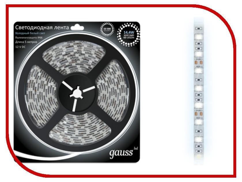 Купить Светодиодная лента Gauss 5050/60-SMD 14.4W 12V DC 5m IP66 EB311000314 / 311000314