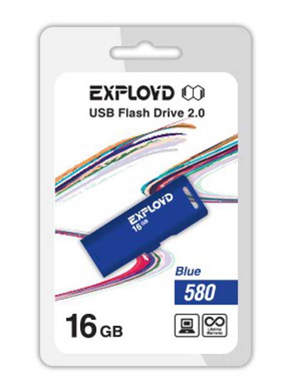 USB Flash Drive 16Gb - Exployd 580 EX-16GB-580-Blue usb flash drive 16gb exployd 580 ex 16gb 580 black