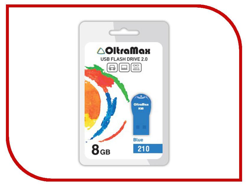 Купить USB Flash Drive 8Gb - OltraMax 210 OM-8GB-210-Blue