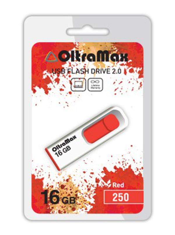 USB Flash Drive 16Gb - OltraMax 250 OM-16GB-250-Red