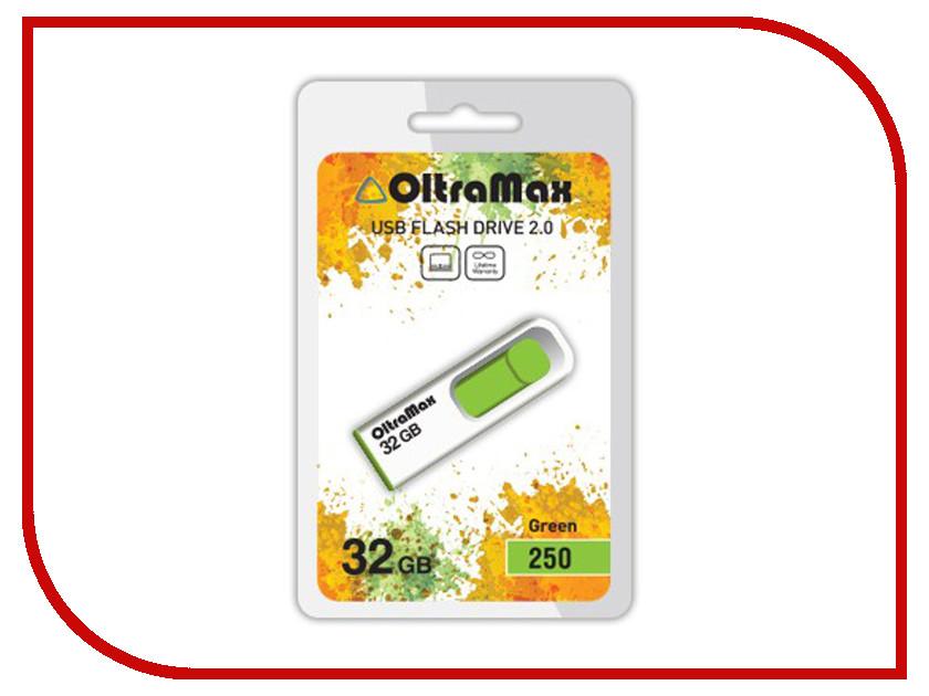 Купить USB Flash Drive 32Gb - OltraMax 250 OM-32GB-250-Green