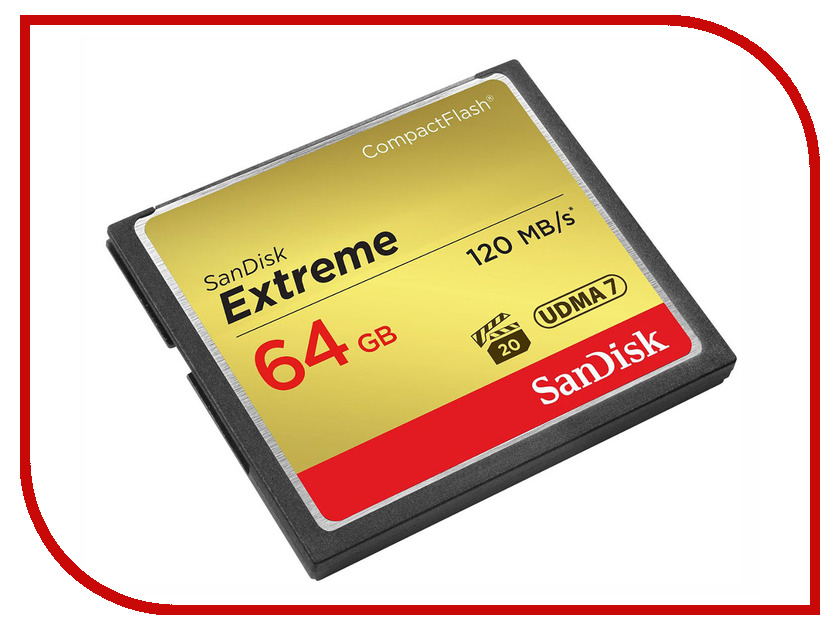 Купить Карта памяти 64Gb - SanDisk Extreme CF 120MB/s - Compact Flash SDCFXSB-064G-G46