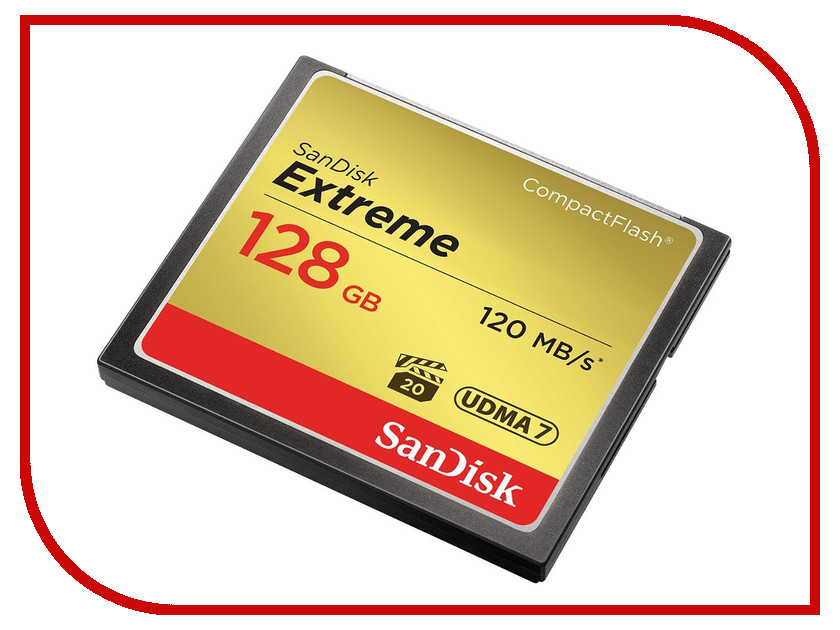 Купить Карта памяти 128Gb - SanDisk Extreme CF 120MB/s - Compact Flash SDCFXSB-128G-G46